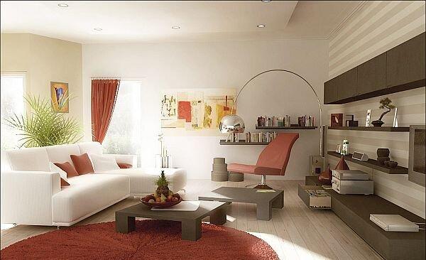 kırmızı oturma odaları