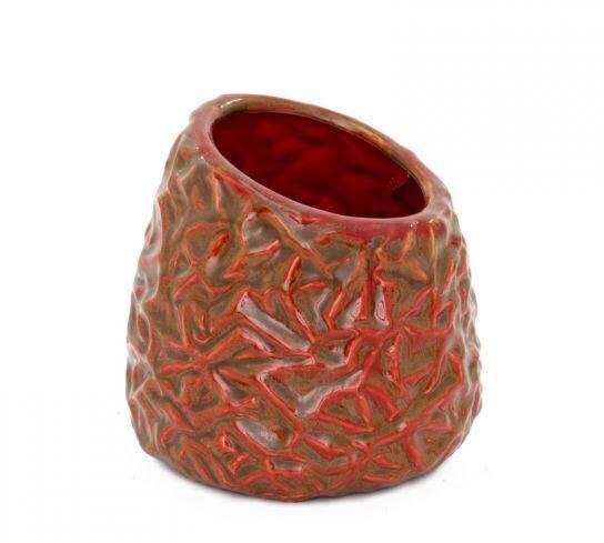 kırmızı vazo