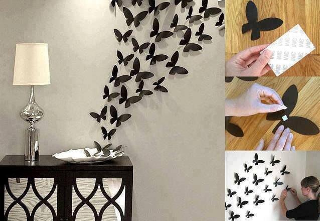 kagit kelebekler el yapimi duvar aksesuar modelleri