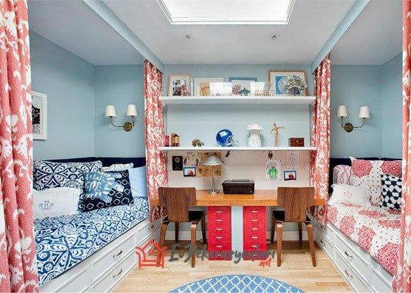 kardes odasi dekorasyon modeli