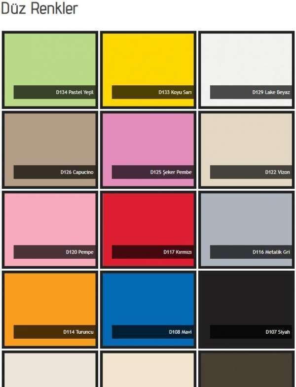 2020 Yılı Yeni Mobilya Renk Kartelası