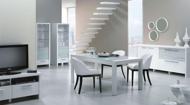 kelebek mobilya beyaz yemek odası modelleri