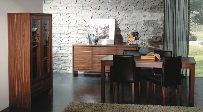 kelebek mobilya kahve rengi yemek odası modelleri