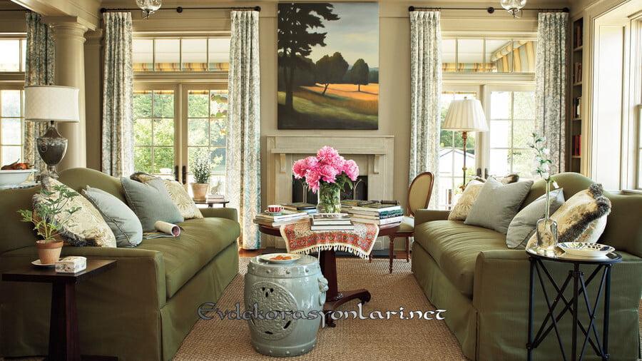 keyifli ve sicak sonbahar ev dekorasyonu