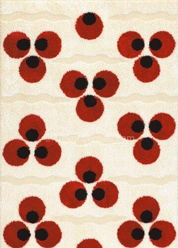 kırmızı krem halı moelleri