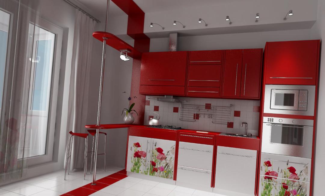 Kırmızı Mutfak Dekorasyonu