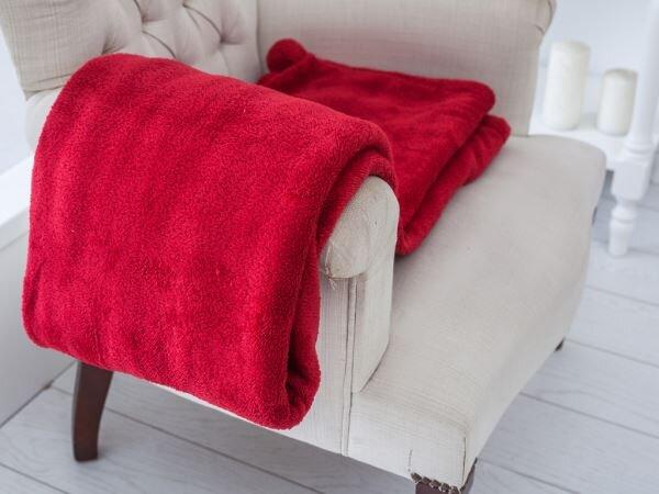 kirmizi renkli english home battaniye modeli