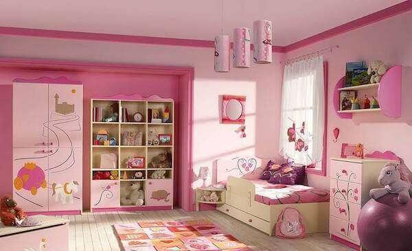 kiz-cocuk-odasi-pembe-dekorasyon-fikirleri