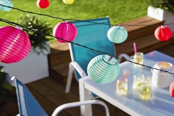 koctas renkli kagit fener dekoratif bahce aydinlatmasi modeli