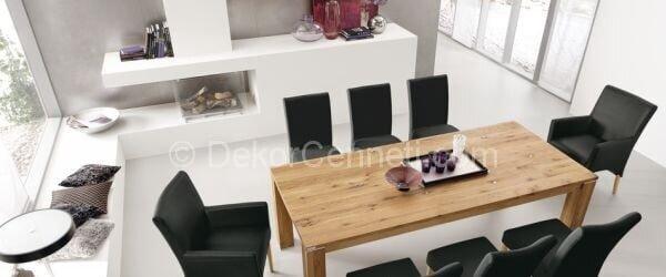 koltuklu yemek odası dekorasyonu