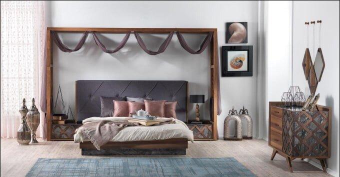 konfor mobilya caruzel yatak odasi takimi modeli