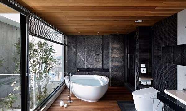 koyu-renk-japon-banyo-dekorasyonlari