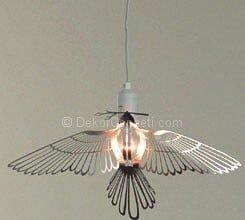 kuş şeklinde sarkıt lamba