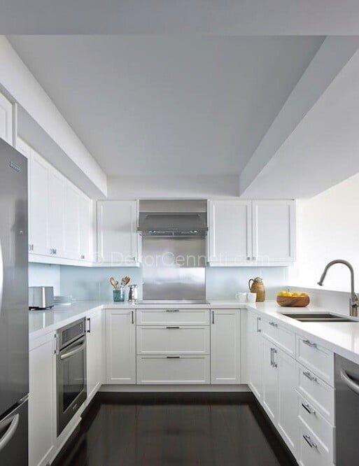 küçük u mutfak dekorasyon örnekleri