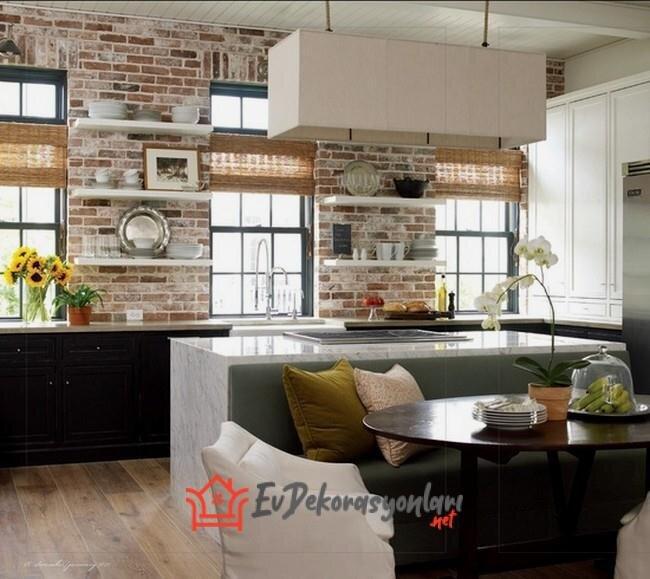kullanisli acik mutfak dekorasyon fikirleri