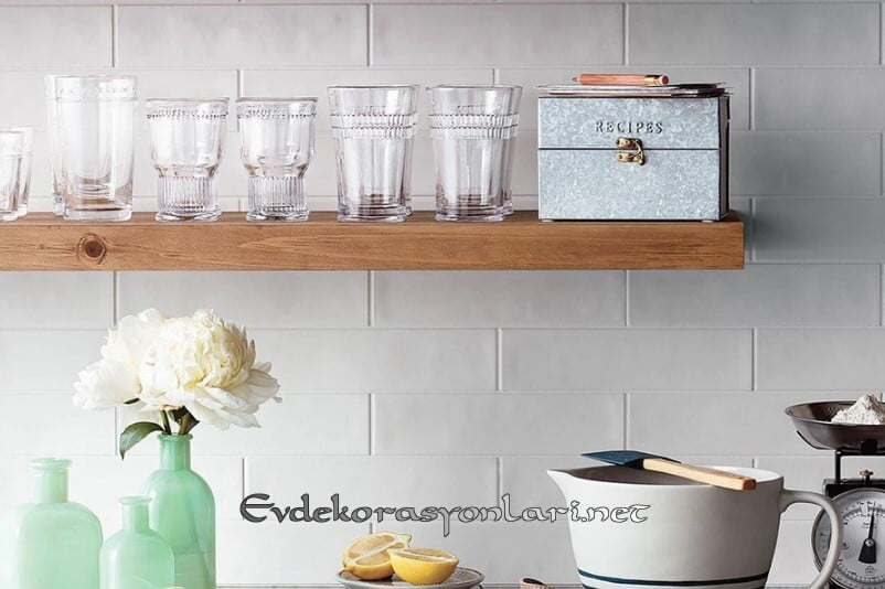 kullanisli acik mutfak rafli dekorasyonlar