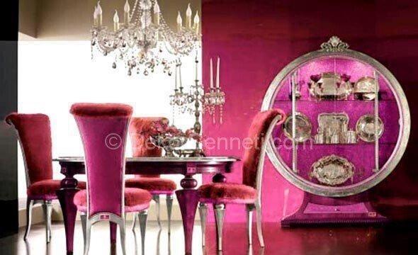 lüks yemek odası dekorasyonu