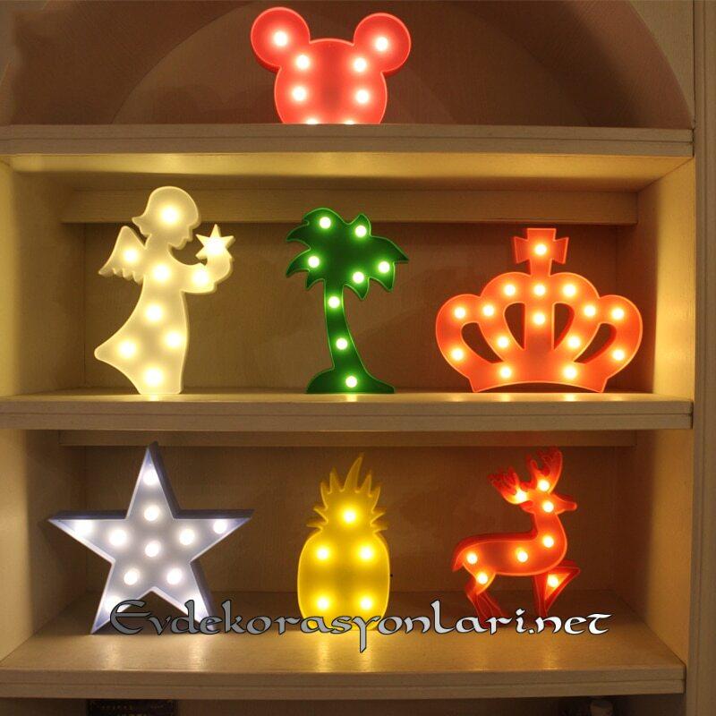 ledli dekoratif cocuk gece lambasi modelleri 2019