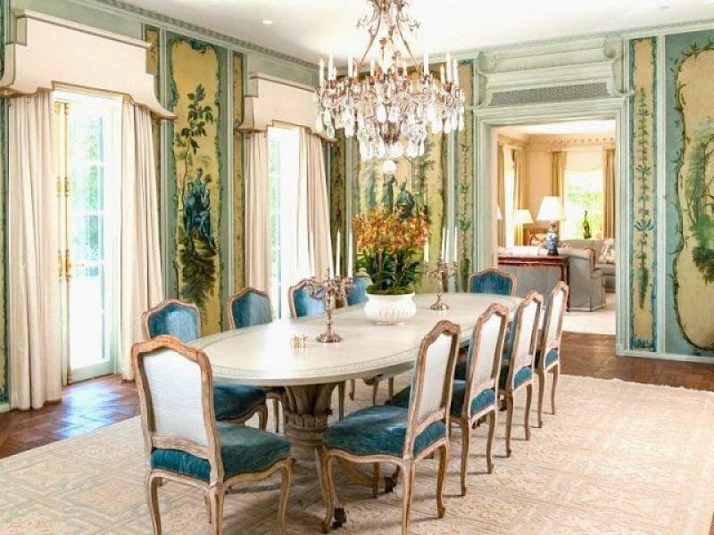 luks klasik yemek odasi dekorasyon modeli 2019