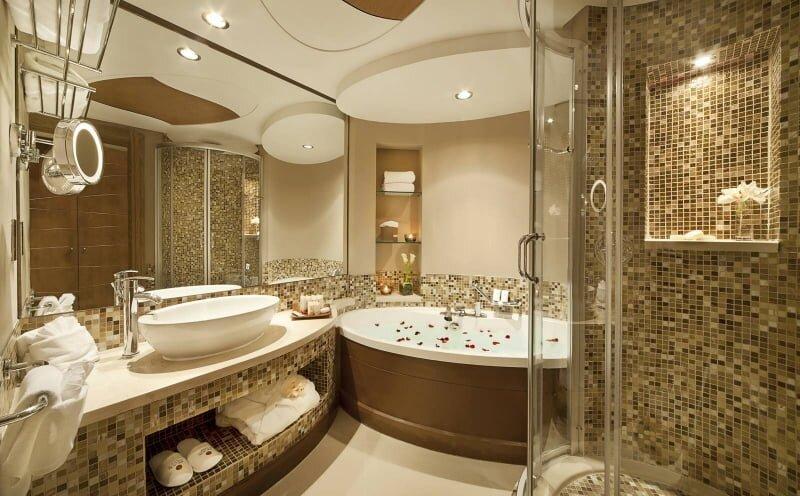 luks ve gosterisli banyo dekorasyon modeli 2019