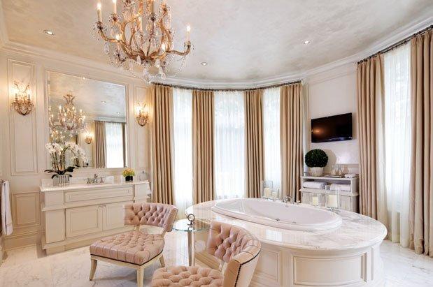 luks ve gosterisli banyo dekorasyon modeli
