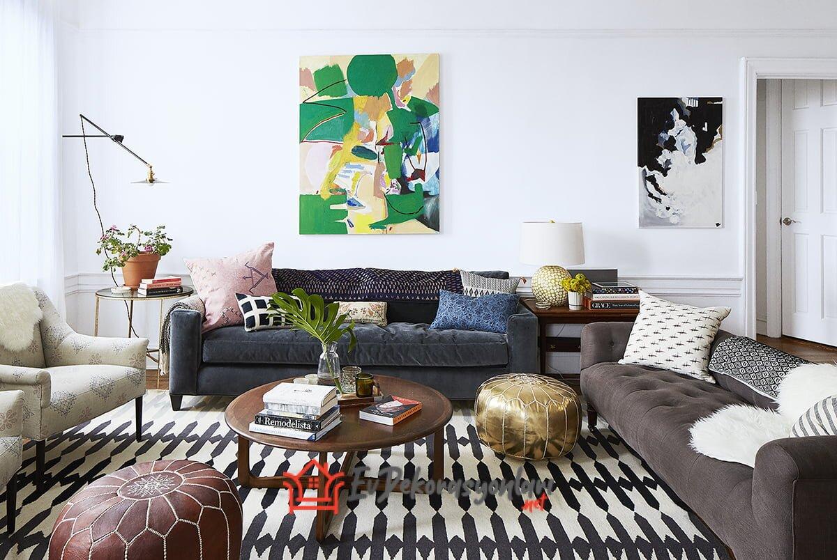 Maksimalist Oturma Odası Dekorasyonu