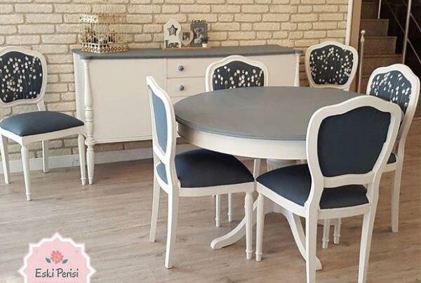 salon dekorasyonunuza şıklık katacak masa sandalye modelleri