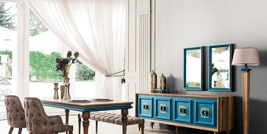 Mavi Mobilya Dekorasyon Örnekleri