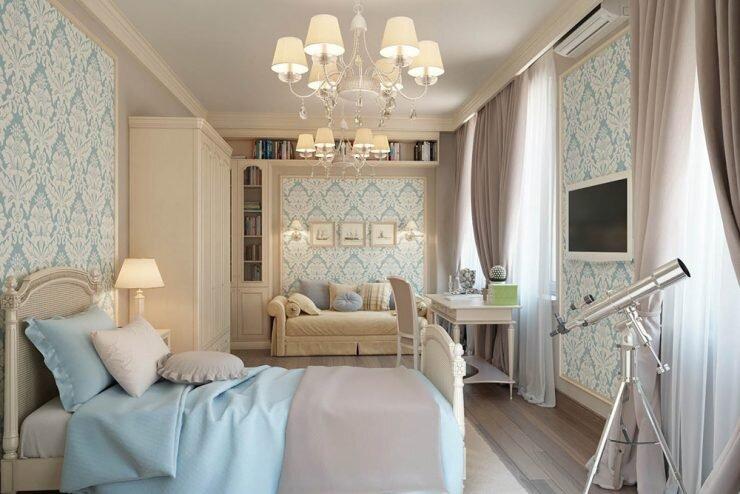 mavi bej yatak odasi dekorasyon renkleri