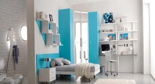 mavi beyaz çocuk odaları