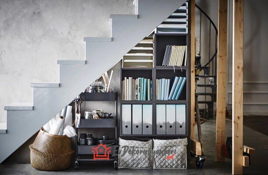 merdiven alti dekorasyon modeli 2019