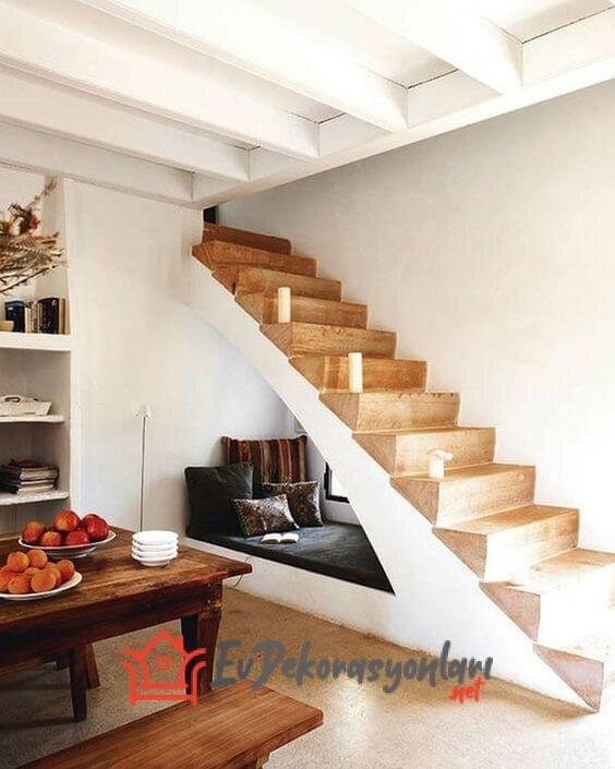 merdiven alti dinlenme kosesi dekorasyonu 2019