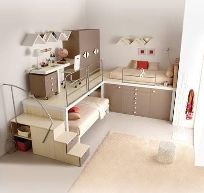 merdivenli çocuk odaları