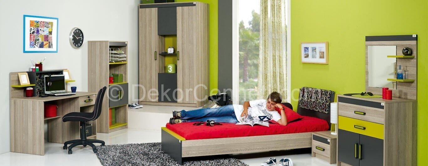 Moda gri genç odası Fotoğrafları