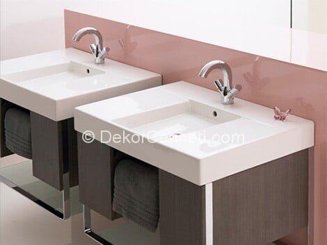 Moda ikili lavabo Fotoğrafları