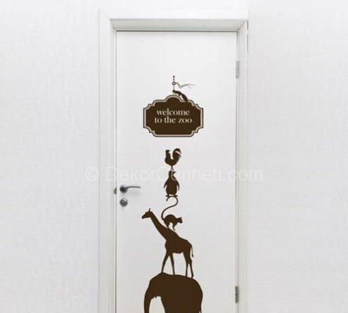 Moda kapı sticker Modelleri
