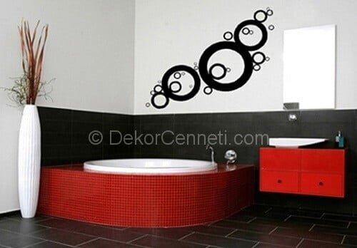 Moda koçtaş banyo sticker Fotoğrafları