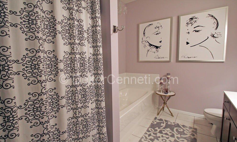 Moda mor banyo dekorasyonu Galeri
