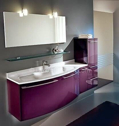Moda mor banyo dolabı Fotoları