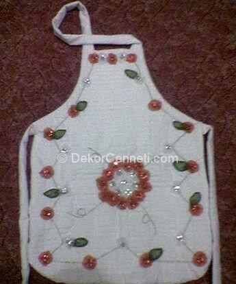 Moda mutfak önlüğü beyaz Galeri