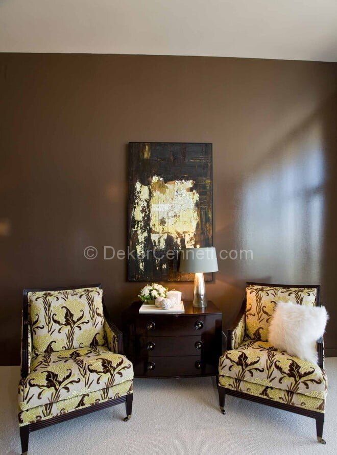 Moda oturma odası dekorasyonu Resimleri