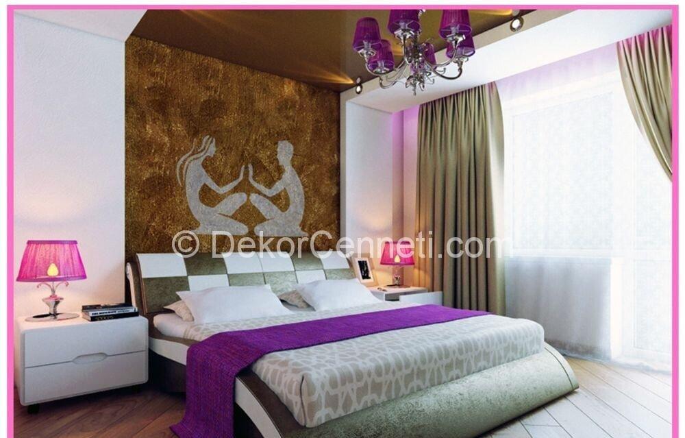 Moda yatak odası asma tavan Fotoları