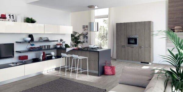 modern açık mutfak