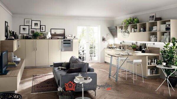 modern acik mutfak dekorasyon modeli