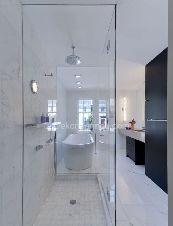 modern banyo dekorasyonu