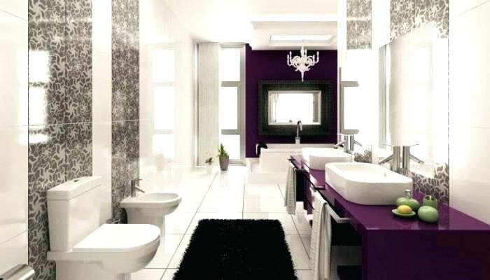 Modern mor banyo dolapları 2019
