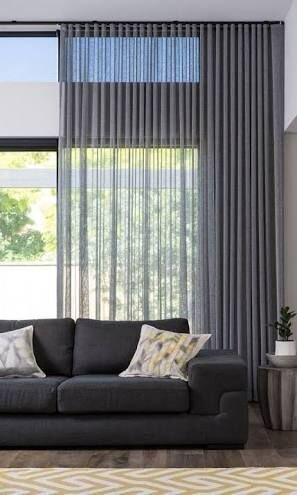 Modern Oturma Odası  Perde  Renk Uyumu
