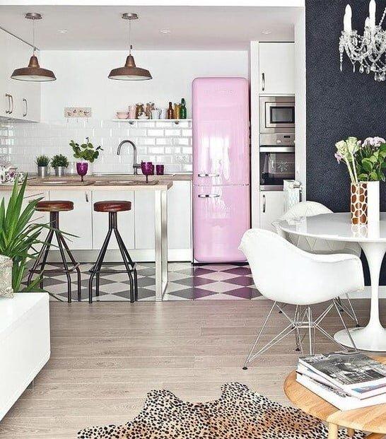 modern retro mutfak dekorasyonu