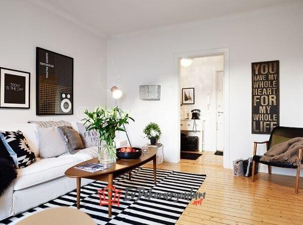 modern siyah beyaz ev dekorasyonlari