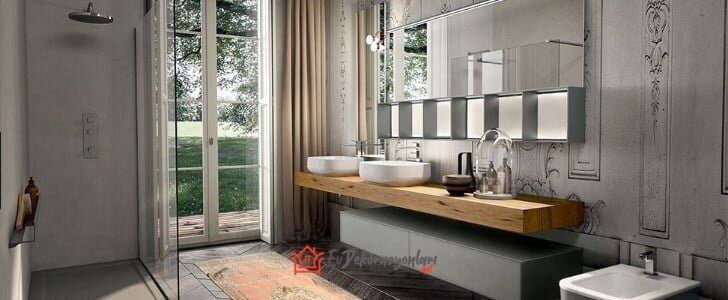 modern tarz italyan banyo dolaplari 2019